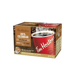 Tim Hortons 100% Colombian K-Cup Coffee - Dark Medium Roast - 12 Servings
