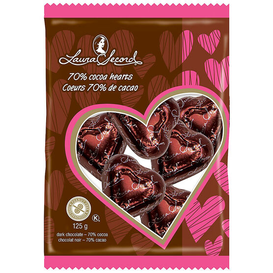 Laura Secord Dark Chocolate Heart Bag - 125g