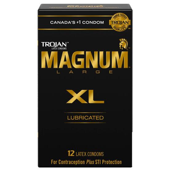Trojan Magnum Condoms - Extra Large - 12's