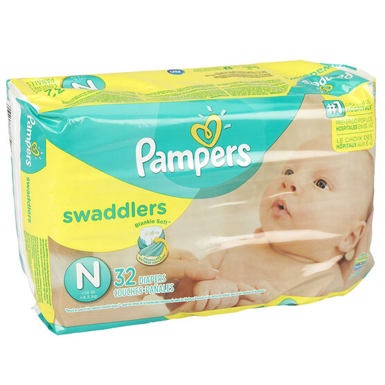Pampers Swaddlers Diapers - Newborn - 32's