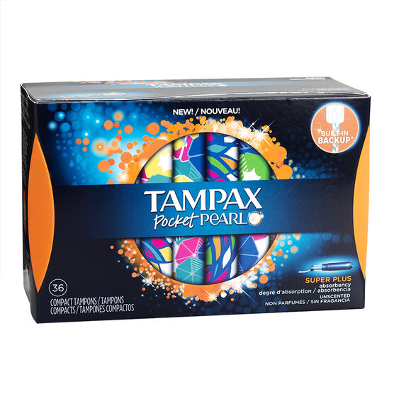 Tampax Pocket Pearl Compact Tampons - Super Plus - 36's