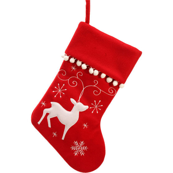 Danson Embroidered Stocking - 18""