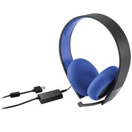 PS4 Silver Wired Stereo Headset - 3000399