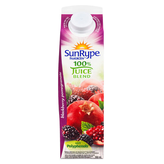 SunRype FruitActiv - Blackberry Pomegranate - 900ml