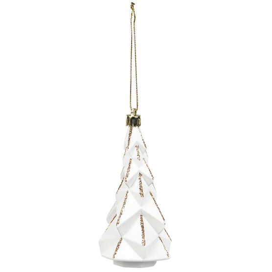 Christmas White Tree Ornament - 11cm