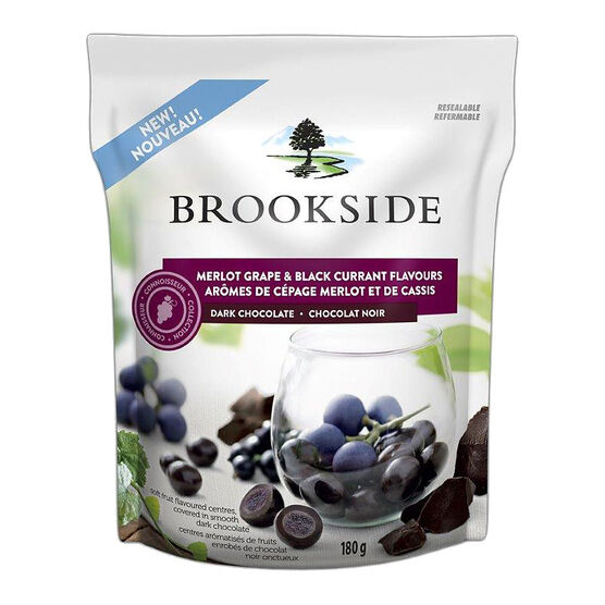 Brookside Dark Chocolate - Merlot Grape and Black Currant Flavours - 180g