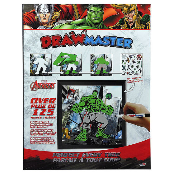 Drawmaster Marvel Drawing Set - Medium - Assorted