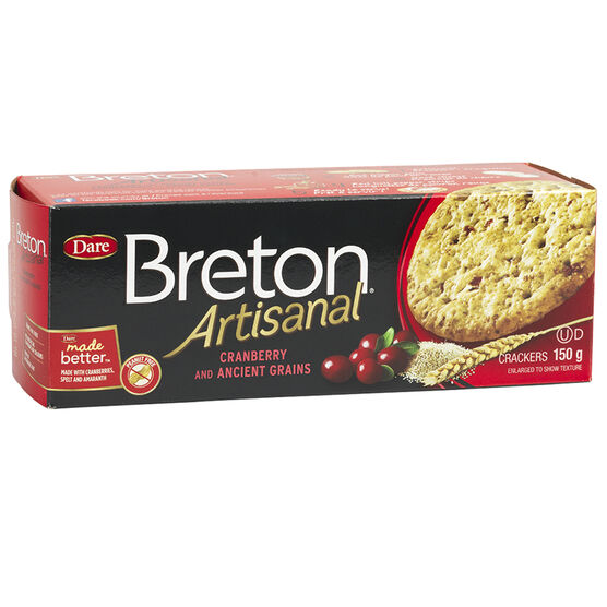 Breton Artisanal Crackers - Cranberry and Ancient Grains - 150g