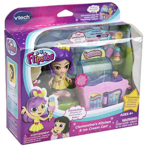 VTech Flipsie - Clementine's Kitchen & Ice Cream Cart - Assorted