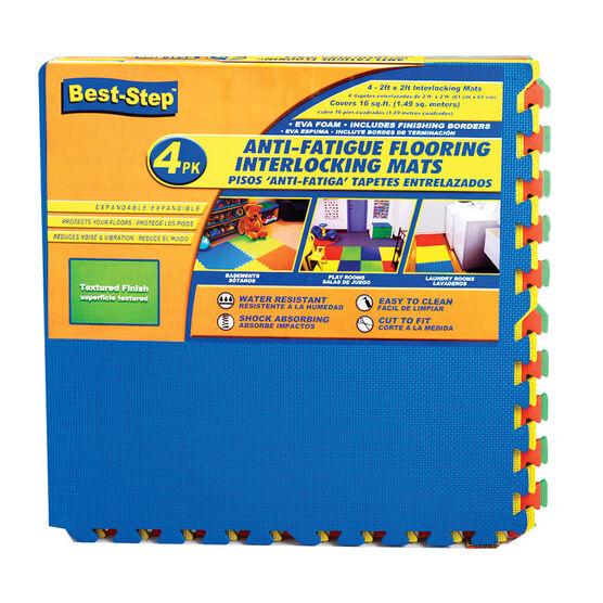 Best-Step Kids Anti-Fatigue Flooring Interlocking Mats - 4 pack - 2 x 2 ft.