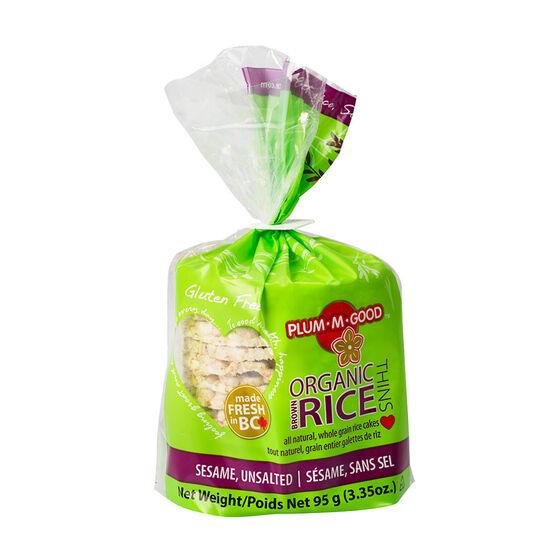 Plum-M-Good Organic Rice Thins - Sesame - 95g