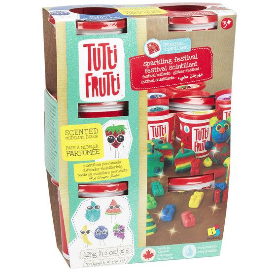 Tutti Frutti Scented Modeling Dough - Sparkling Festival - 6 pack