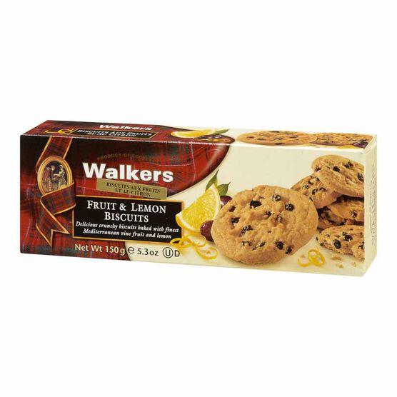 Walkers Fruit & Lemon Biscuits - 150g