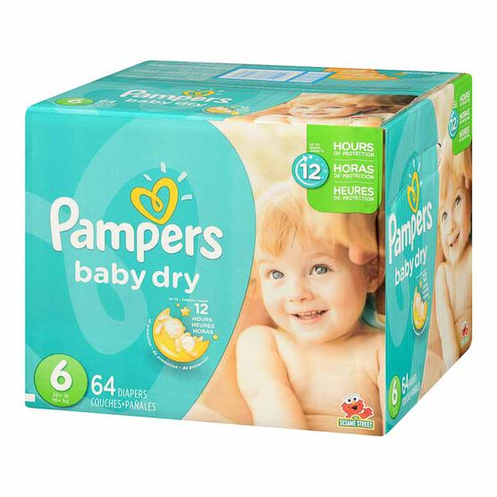 Pampers Baby Dry Diapers - Size 6 - 64's