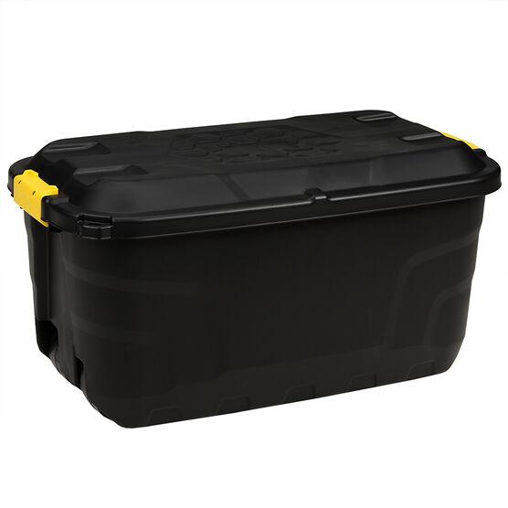 Strata Plastic Storage Trunk with Lid & Wheels - 75L