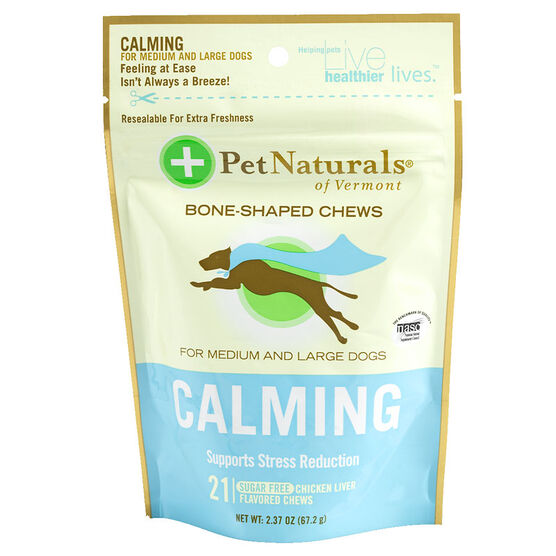 Pet Naturals Calming Chews for Medium/Large Dogs - 21's