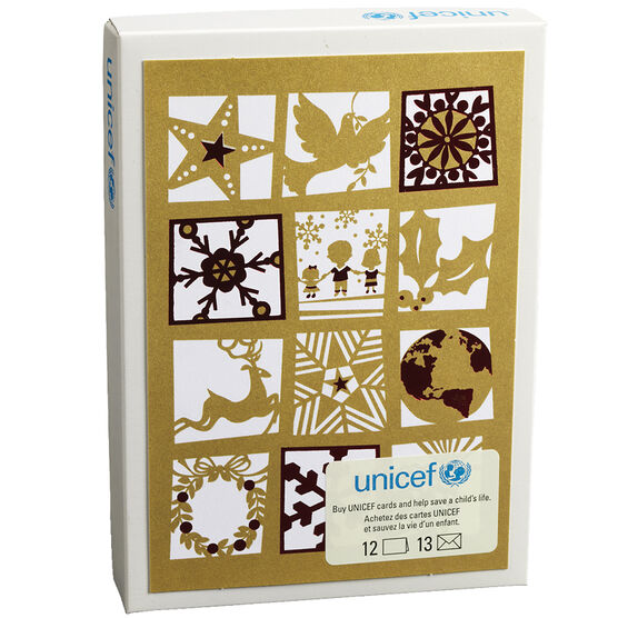 Unicef Christmas Cards - Holiday Icons - 12 pack