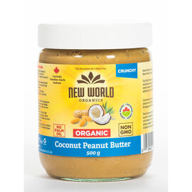 New World Organics Coconut Peanut Spread - Crunchy - 500g