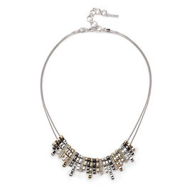 Nine West Frontal Necklace - Tri-Tone