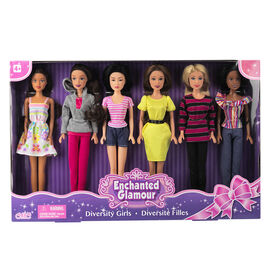Diversity Fashion Dolls - 6 piece