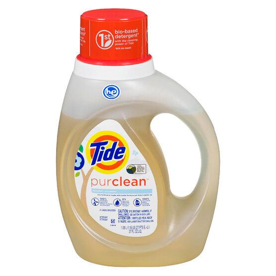 Tide Purclean Laundry Detergent - Unscented - 1.09L