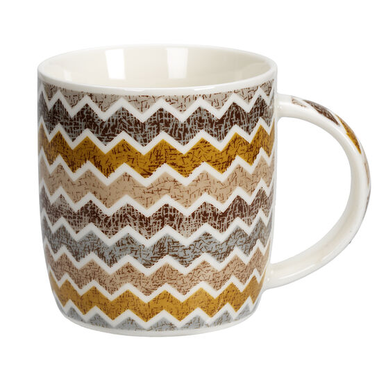 London Drugs Porcelain Mug - Geometric - 12.5oz