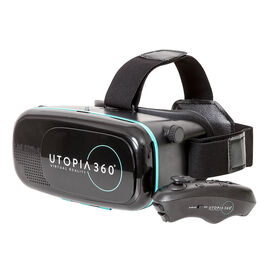 ReTrak Utopia 360 3D Virtual Reality Headset with Bluetooth Controller - Black - ETVRC
