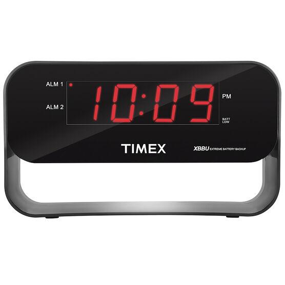 Timex Dual Alarm USB Clock - Black - T128BX6