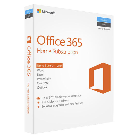 Microsoft Office 365 Home – 1 year Subscription