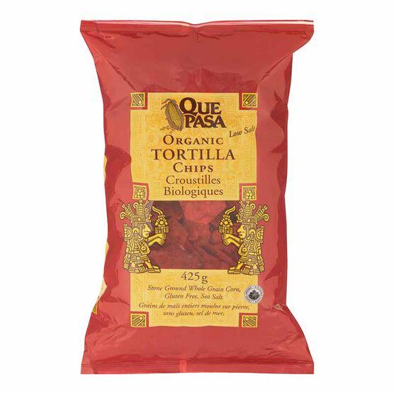 Que Pasa Organic Corn Tortilla Chips - Red - 425g