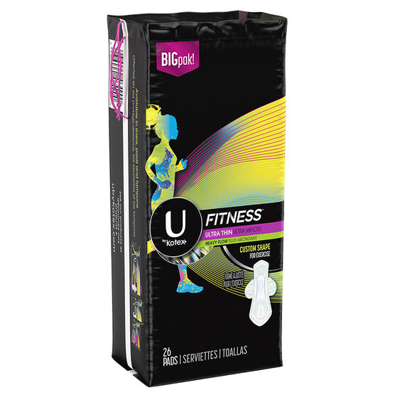 U by Kotex Fitness Ultra Thin Pads - Heavy Flow - 26's