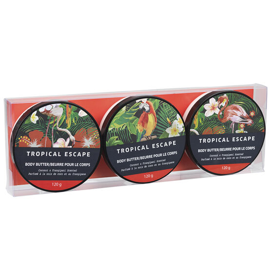 Tropical Escape Body Butter - Coconut Frangipani - 3 x 120g