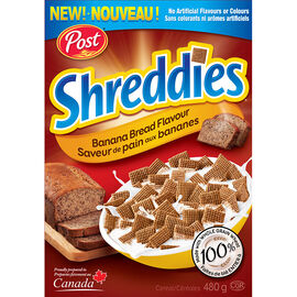 Post Shreddies Banana Bread Cereal - 480g