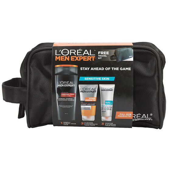 L'Oreal Men Expert Stay Ahead of the Game Skin Kit - Sensitive - 3 piece