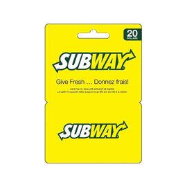 Subway Gift Card - $20