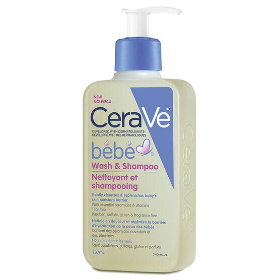 CeraVe BeBe Wash and Shampoo - 237ml