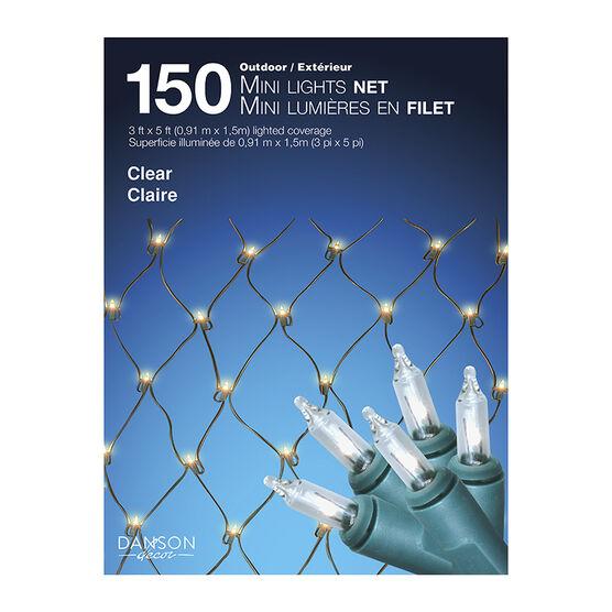 Danson Outdoor Mini Net Lights - 150 lights - Clear - X77070