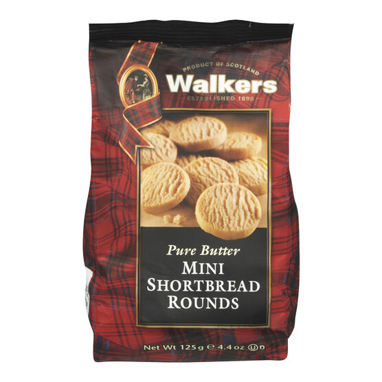Walkers Pure Butter Mini Shortbread Rounds - 125g