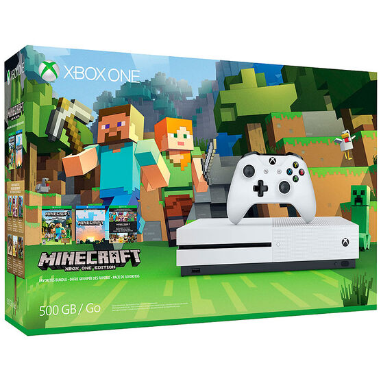 Xbox One 500GB Console S Minecraft Favourites Bundle