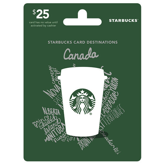 Starbucks Canada Gift Card - $25