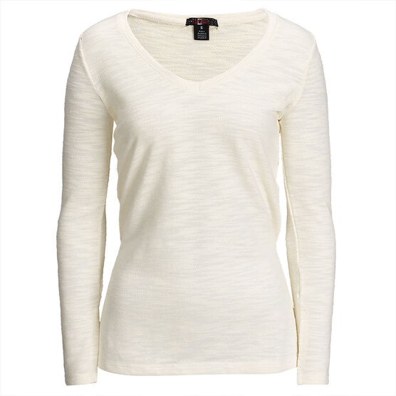 Lava SLUB V-Neck Sweater - Off White