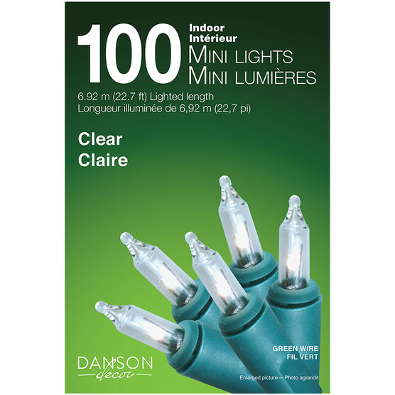 Danson Indoor Mini Light Set - 100's - Clear - X77017MOD