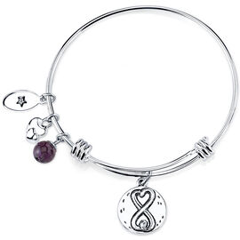 UNWRITTEN Stainless Steel Always Sisters Expandable Bangle