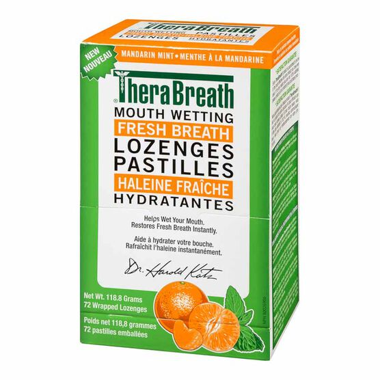 TheraBreath Mouth Wetting Fresh Breath Lozenges - 72's
