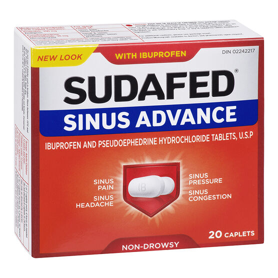 Sudafed Sinus Advance - 20's