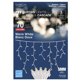 Danson LED Curtain Lights - 70 lights - Warm White - X77326