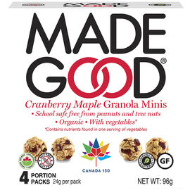 Made Good Granola Minis - Cranberry Maple - 4 pack