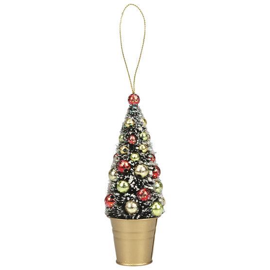 Christmas Tartan Sisal Tree Ornament - 6in