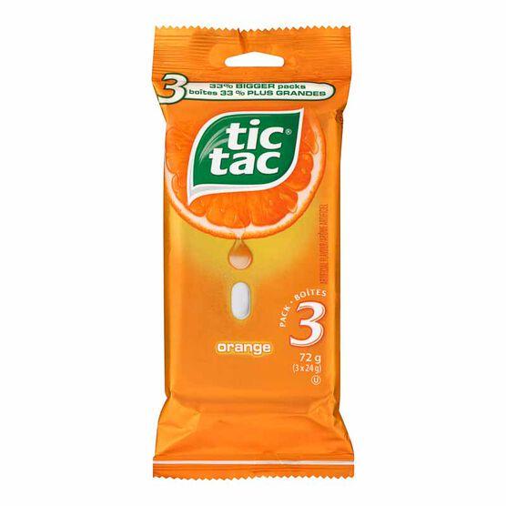 Tic Tac - Orange - 3 x 24g