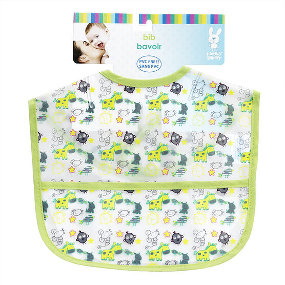 Honey Bunny Baby Bib with Pocket - Assorted